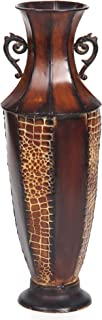 Hosley Decorative Brown Embossed Iron Tall Floor Vase, 26