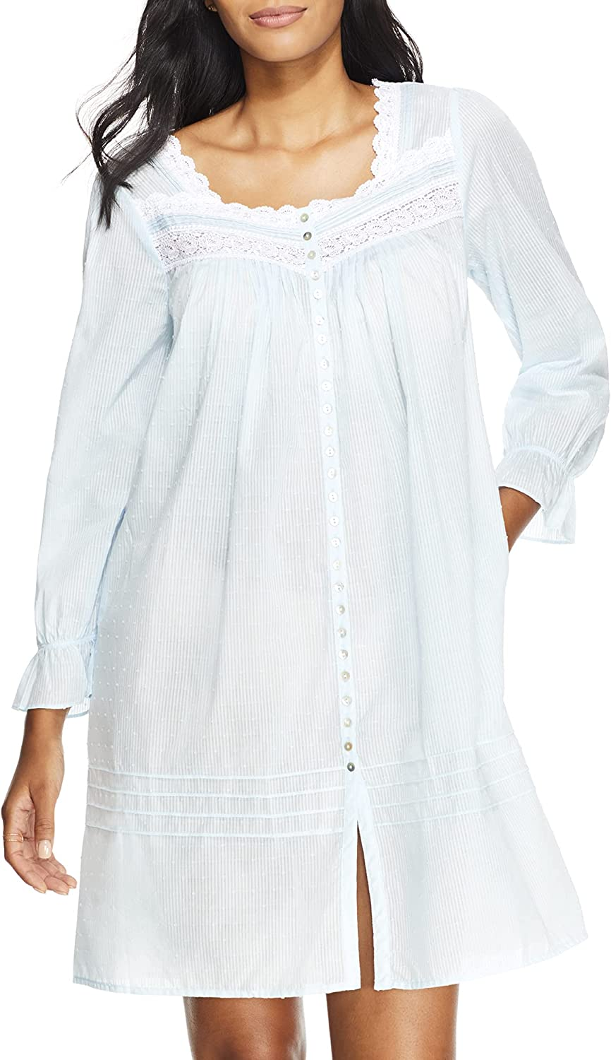 Swiss Dot Max 85% OFF Complete Free Shipping Button-Front Woven Short Robe