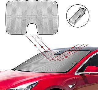 Custom-fit Windshield Sun Shade AutoTech Zone Sun Shade for 2018-2019 Tesla Model 3 SUV