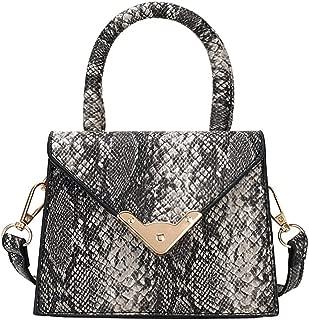 chinatera Crossbody Bags for Women, Snake Print Flap PU Leather Small Shoulder Handbags Women