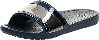 Crocs Women's Sloane Metalblock Flip Slide Sandal