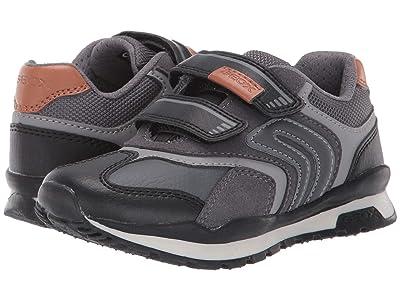 Geox Kids Jr Pavel 23 (Little Kid) (Black/Charcoal 2) Boys Shoes