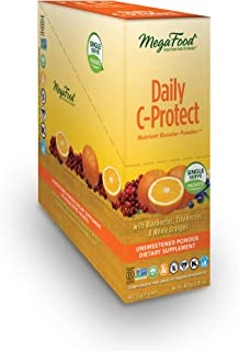 MegaFood, Daily C-Protect Booster Powder Singles, Supports Natural Immune Defenses, Drink Mix Supplement, Vegan, 30 Packs
