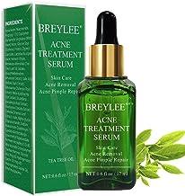 سرم ضد آکنه، BREYLEE سرم پوست را پاک می کند برای پاک کردن آکنه شدید، برک زدن، جوش و ترمیم پوست (17ml، 0.6oz)