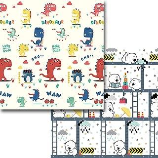 Haunen Alfombrilla de Juego para Bebé, Plegable Alfombrilla de Juegos de XPE, Colchoneta de Juegos Plegable, Playmat de Doble Cara, Impermeable, No tóxico, 200 x 180 x 1 cm
