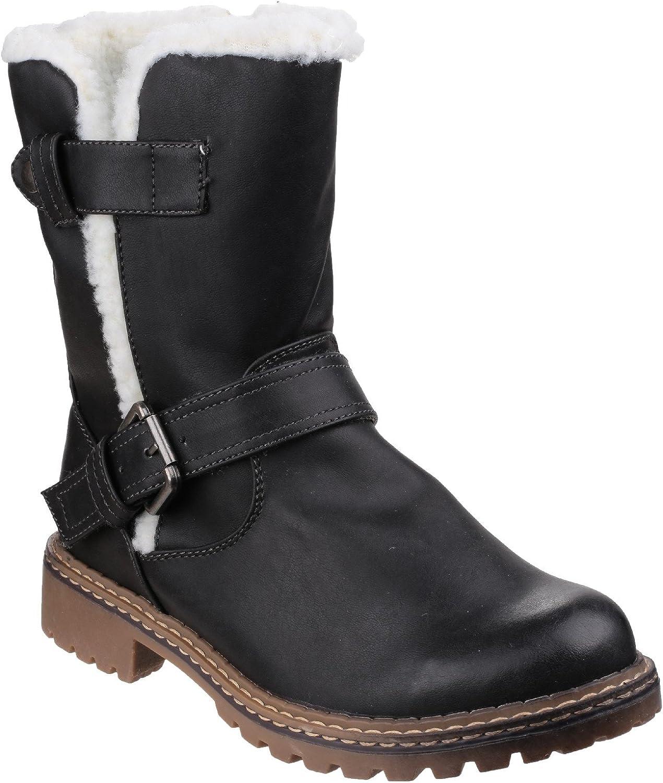 Cotswold Ladies Nardo Fur Trim Winter Snow Stiefel schwarz  | Hohe Qualität und geringer Aufwand