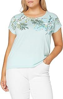 Damart T-Shirt Col Imprime Fleurs Collection Fresh Femme