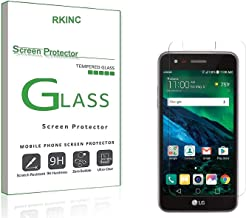 RKINC Screen Protector for LG Fortune 2, Tempered Glass Screen Protector[0.3mm, 2.5D][Bubble-Free][9H Hardness][Easy Installation][HD Clear] for LG Fortune 2(2 Pack)