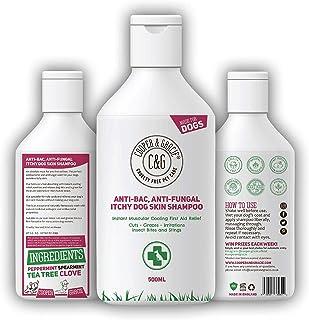 C&G Mascotas | Champú antipicazón antihongos para la piel del perro | Lavado terapéutico natural de rápida absorción | Enfriamiento muscular instantáneo alivio de primeros auxilios para