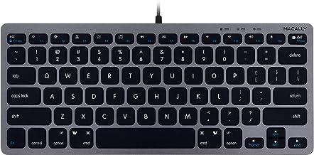 Macally Slim USB Wired Small Compact Mini Computer Keyboard for Apple Mac, iMac, MacBook Pro/Air, Mac Mini, Windows PC Desktops, Laptop (Space Gray)
