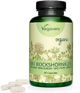 Fenogreco Orgánico Vegavero® 5000 mg | Sin Aditivos | Rico en Estrógenos Naturales | Dolor Menstrual | 90 Cápsulas | Apto Para Veganos | Procedente