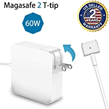 For MacBook Pro Charger 60W Magsafe 2 T-Tip Adapter Charger for MacBook Pro 13-inch After Late 2012