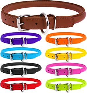 Best leather puppy collars Reviews
