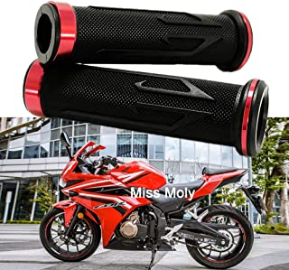 Negro Bonnoeuvre Pu/ños/7//8 Universal Acoples de Manillar Moto Motocicleta Perillas Manillar Aluminio Tiradores del Manillar/22mm