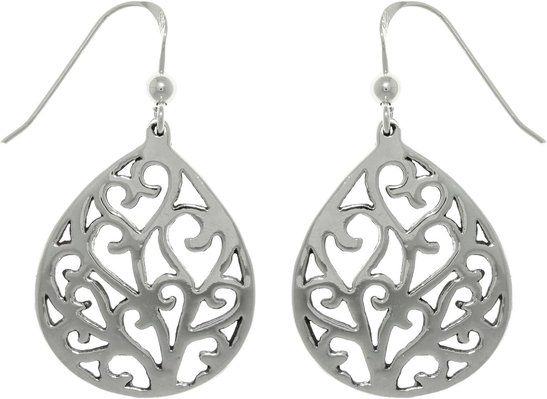 Jewelry Trends Trust Heart Vine Ranking TOP19 Teardrop Dangle Earrin Silver Sterling