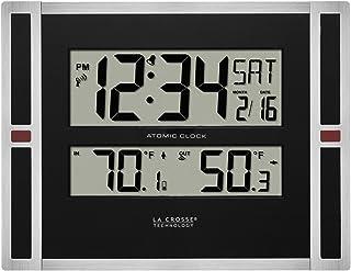 La Crosse Technology Atomic Digital Wall Clock, Black, One Size