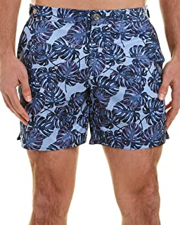 parke & ronen Mens Catalonia Swim Trunk, 31, Blue