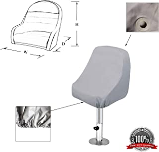 SavvyCraft Waterproof Pontoon Boat Captain Seat Chair Cover 24
