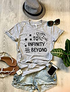 Medium/Gray/To The Infinity And Beyond // Disney Toy Story T Shirt/Screen Printed W. Eco Ink/Cool T Shirt/Disney Trip T Shirt/Unisex Fit From Bella Canvas/Crew-Neck Shirt/Free Shipping/