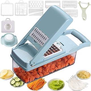12 in 1 Vegetable Chopper, Heavy Duty Mandoline Slicer Potato Onion Chopper Food Chopper Veggie Chopper with Vegetable Pee...