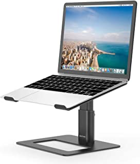 BoYata Laptop Stand, Height Adjustable Computer Stand for Desk, Ergonomic Metal Laptop Holder Compatible with MacBook Air/...