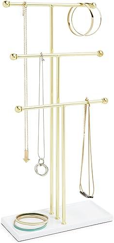 Umbra Trigem - Arbre à bijoux en métal doré et métal blanc