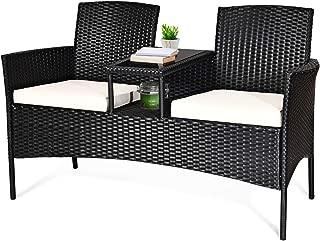 Tangkula Wicker Patio Conversation Furniture Set, Outdoor...