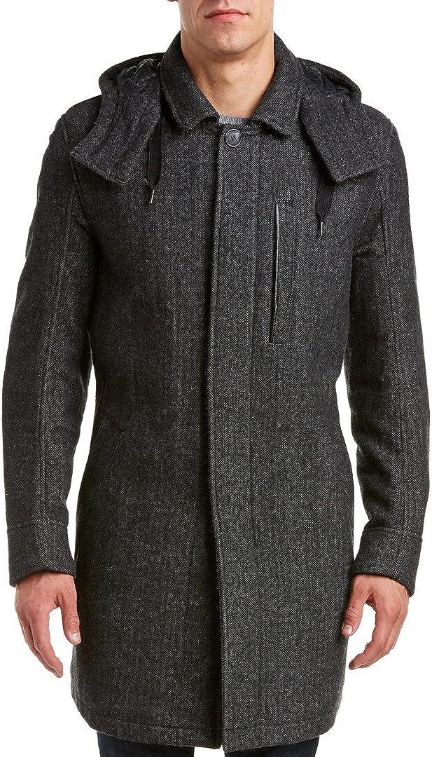 Marc New York by Andrew Marc Men's Boulevard Herringbone Jacket with Hood