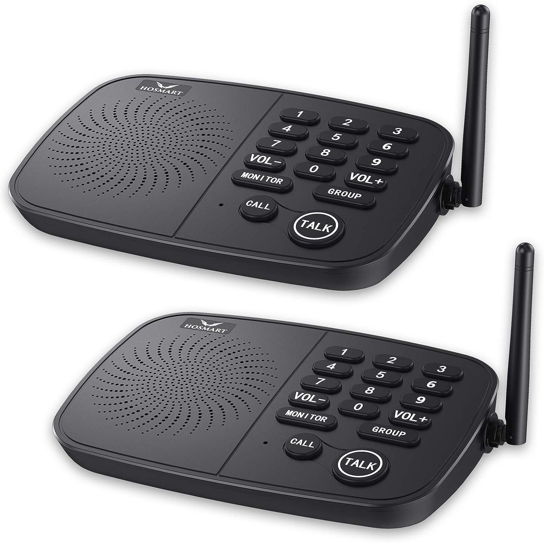 Wireless Intercom System Hosmart 1 2 10-Channel Max 77% OFF Range Popular brand in the world Long Mile