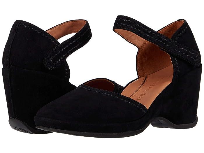 1940s Style Shoes, 40s Shoes LAmour Des Pieds Orva Black Suede Womens Sandals $179.99 AT vintagedancer.com