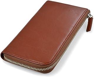 [タバラット] 財布 メンズ 長財布 L字ファスナー 本革 ラウンド財布 タバラットフラット (モカブラウン)