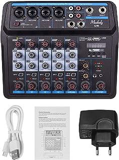 Mini Mezclador Musical U6 De Muslady, 6 Canales, Mezcladores De Audio BT, Consola De Mezcla USB Con Tarjeta De Sonido Inte...