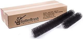 GutterBrush Leaf Gutter Guard for Oversize 6 Inch Rain Gutters - 12 ft. or 60 ft. Packages (Brush Diameter 5.25 in.)