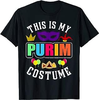 This Is My Purim Costume T-Shirt Jewish Happy Purim