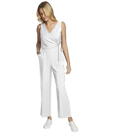1.STATE Soft Twill V-Neck Wide Leg Jumpsuit (Soft Ecru) Women