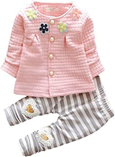 Ancia Baby Girls 2pcs Long Sleeve Top T-Shirt Legging Pants Clothing Set Clothes