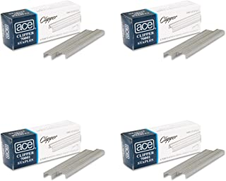 Ace Office Products 70001 Staples, Undulated, For 07020 Clipper Plier, 5000/BX, 4 Packs