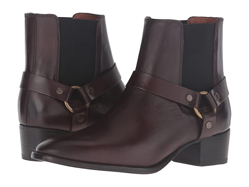 Frye Dara Harness Chelsea (Dark Brown Smooth Veg Calf) Women