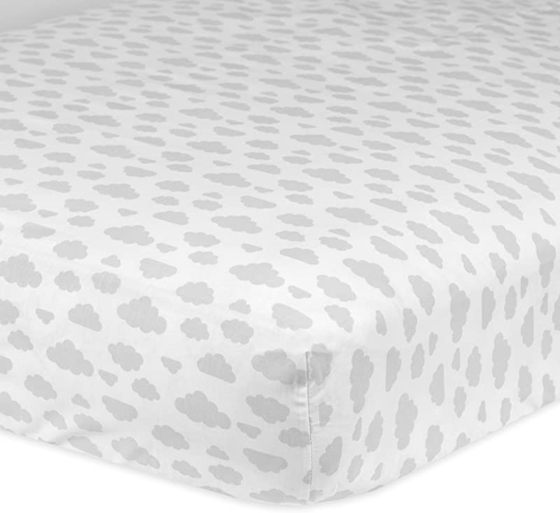Gerber 100 Cotton Fitted Crib Sheet Clouds