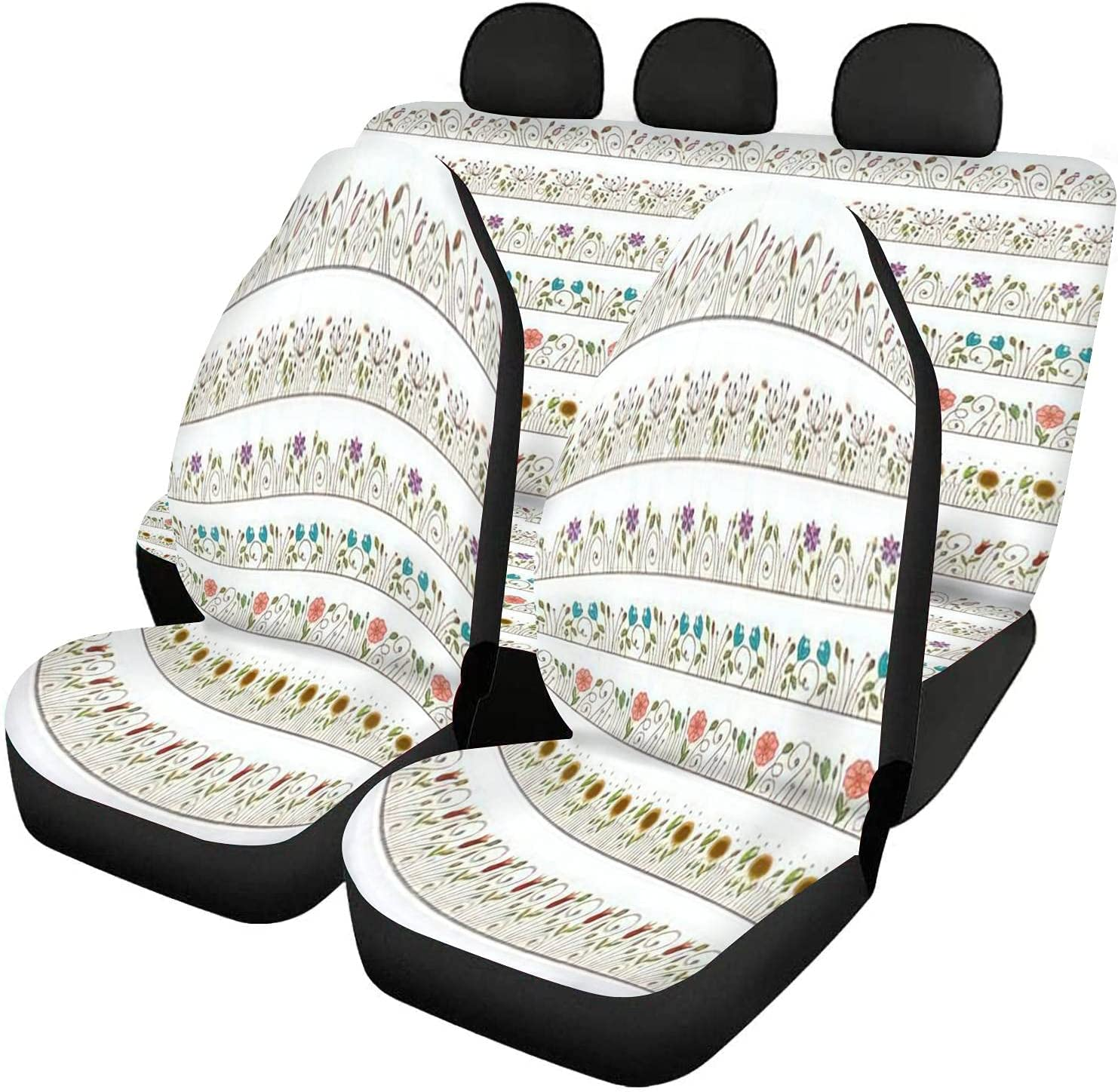 GDSJEGQM Car Seat Covers Full Set and Doodle - F Seamless Ranking TOP10 Limited price sale Border