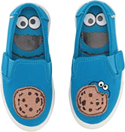 Blue Cookie Monster Aplique Canvas