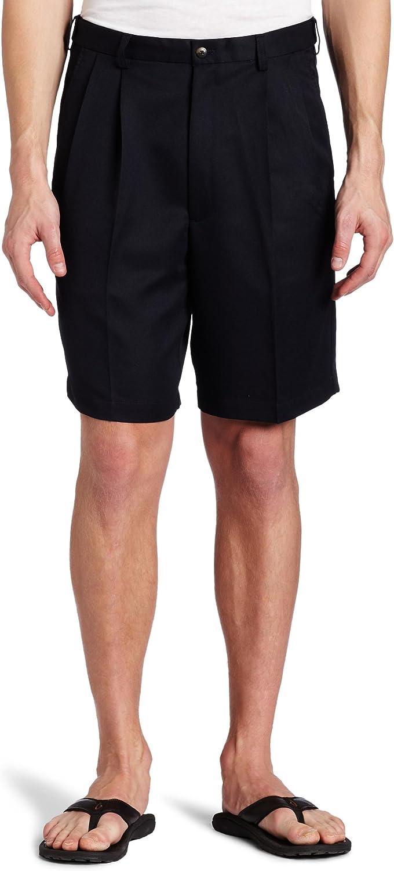 Haggar Men's Cool 18 Pleat Front Hidden Expandable Waist Short-Regular and Big & Tall Sizes