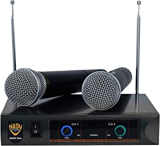 Nady DKW DUO HT B/D VHF Dual Wireless Handheld Microphone System – includes 2..