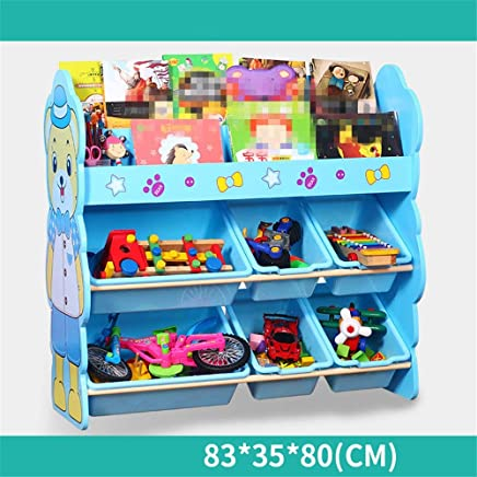 MxZas Durable Children Finishing Storage Rack For Organizing Toy Storage Baby Toys Kids Toys Dog Toys Baby Clothing Children Books Easy Assemble  Color Blue  Size Free size