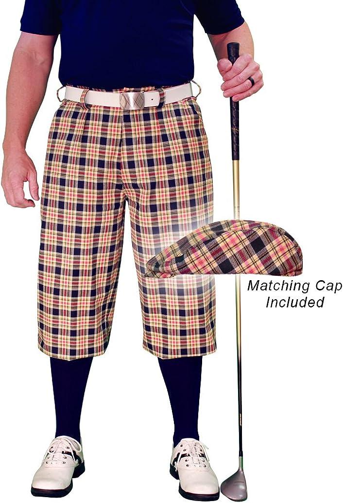 Golf Raleigh Mall Knickers Plaid Ranking TOP14 and Cap: - 'Par 5' Mens Havana