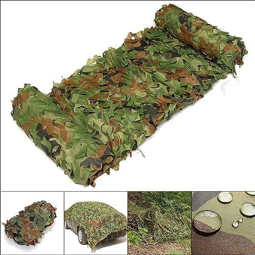 DGLIYJ Filet De Camouflage 210D Oxford Woodland Filet De Camouflage Utilisé pour Le Camping Tirant De l'ombre en Cuir 6,5 Pieds X 9,8 Pieds (Taille   4x9m)