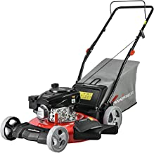PowerSmart Lawn Mower, 21-inch & 170CC, Gas Powered Push Lawn Mower with 4-Stroke Engine, 3-in-1 Gas Mower in Color Red/Bl...