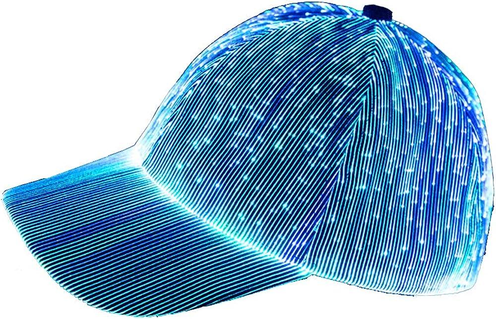 NIWOTA LED Fiber Optic Luminous hat Couple Luminous Cap Outdoor Luminous Peak Cap Baseball Cap Performance Cap