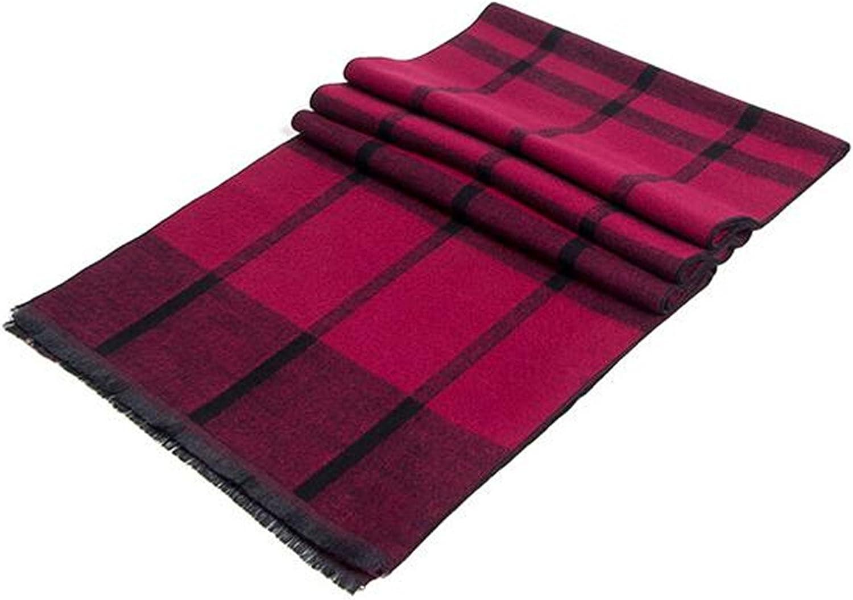 Men Fashion Vintage National Ethnic Style Cute Lattice Grid Stripe Warm Scarf Shawl Long Pattern