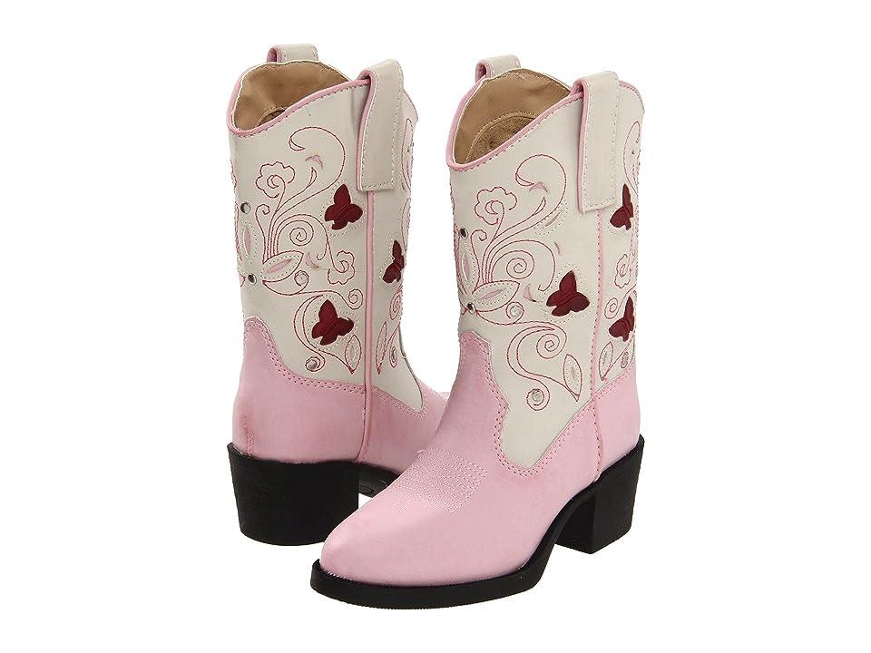 Roper Kids Western Lights Cowboy Boots (Toddler/Little Kid) (Pink) Cowboy Boots